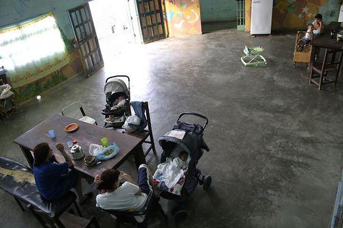 Детский сад за решеткой