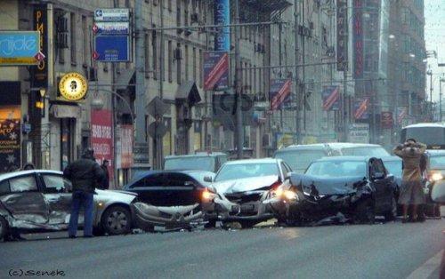 Авария на Тверской