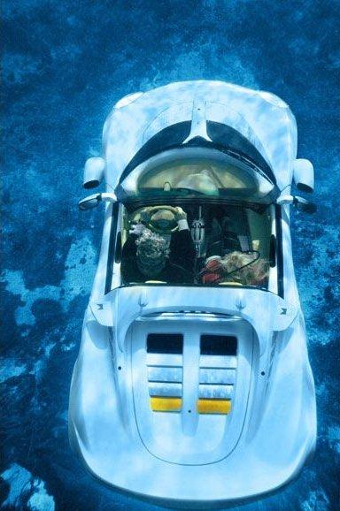 Автомобиль плавающий под водой