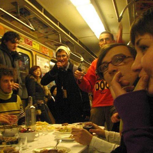 Флэшмоб в киевском метро