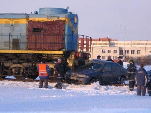 Шкода против поезда