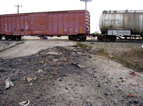 Встреча поезда и грузовика